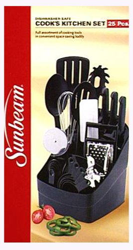 Buy Sunbeam 25-Piece Cook'S Tool Set, Black cheapest