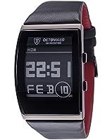 Detomaso - DT2035-B - Inchiostro - Montre Homme - Quartz Digital - Cadran Gris - Bracelet Cuir Noir