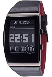 DETOMASO Inchiostro Mens E-Paper Display Watch Stainless Steel Digital Date DT2035-B