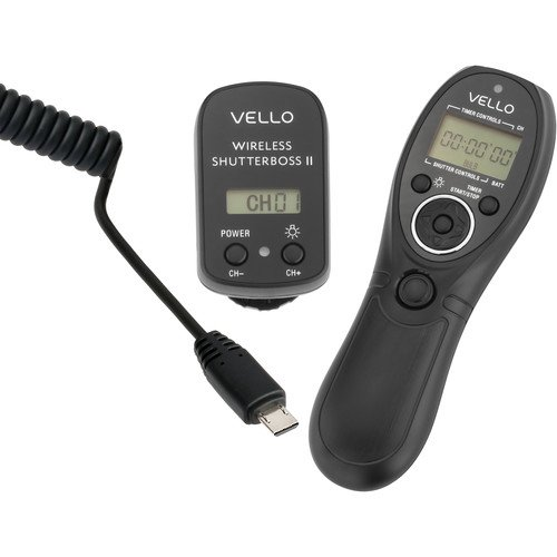 Vello Wireless ShutterBoss II Remote Switch with Digital Timer for Sony Multi-Terminal – Sony: a3000, a5000, a6000, a7, a7R, a7S, a77II, HX300, HX400, HX50v, RX100 Mark II, RX100 Mark III, a58