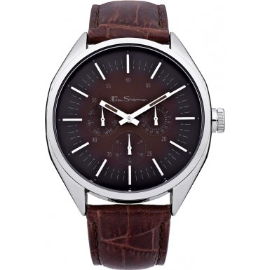 Ben Sherman Men's Quartz Watch with Brown Dial Analogue Display and Brown Leather Strap BS023