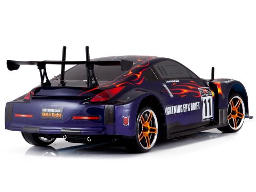 LIGHTNING EXP ~ Electric ~ 1/10 Scale ~ On Road Car ~ Radio Controlled (RC). ~ by Redcat Racing ~ Red & Purple