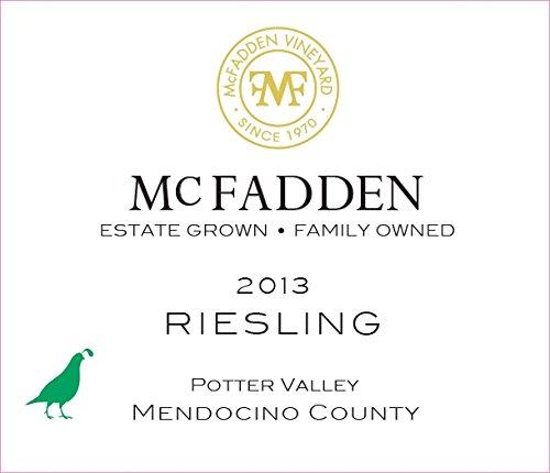 2013 Mcfadden Riesling Mendocino County 750 Ml