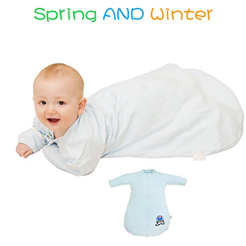 GEX-Multifunctional Baby Sleep Sack Gown Quilt Sleeping Bag Double Layer Blue car L Size (Gex 2 compare prices)