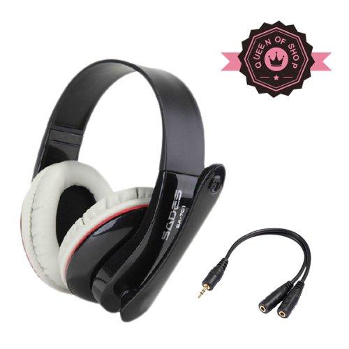 Sades Sa-701 Black Hifi Stereo Stero Deep Bass High Analysis Professional Game Headphone With Rotated Micro For Xbox 360
