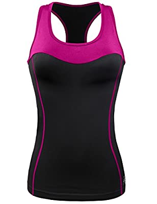 GIODANI Women Workout Activewear Fitness Soft Contrast Tank Top