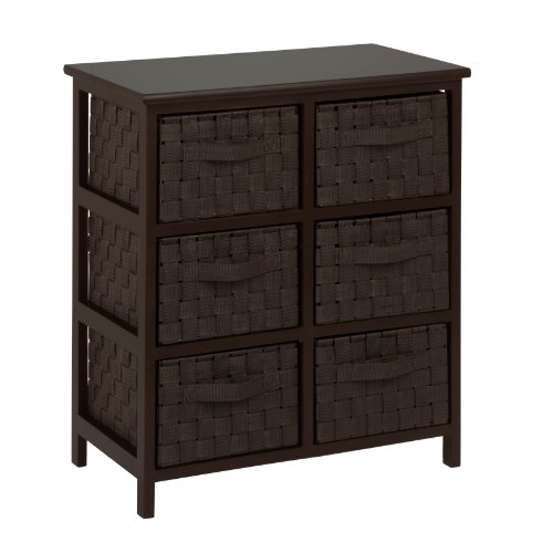 honey-can-do-tbl-03759-6-drawer-storage-chest-with-woven-strap-fabric-espresso-24-inch