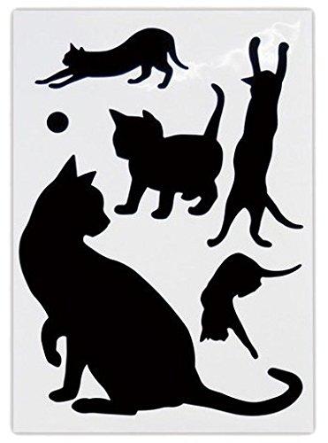 Abeille 猫のウォールステッカー ネコ A AWS-1000