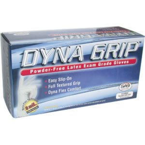 S.A.S. Safety Corp. 6501003-10PK - Dyna Grip 8 Mil Latex Gloves - Large; Case Of 10 Boxes
