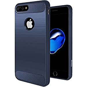 """Mobengo iPhone 7 Plus Case,Matte / Wire-drawing Soft Touch Slim-Fit Flexible 360 Protection TPU Case for Apple iPhone 7 Plus & iPhone 7 Plus (5.5"""") (1-Pack) (Navy Blue)"""