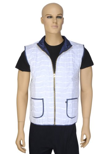Indian Designer Short Reversible Cotton Quilted Mens Jacket Size S