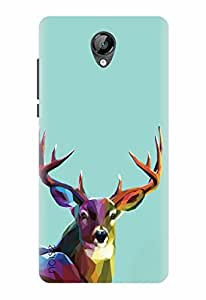 Noise Designer Printed Case / Cover for Micromax Bolt D320 / Comics & Cartoons / Colorful Deer