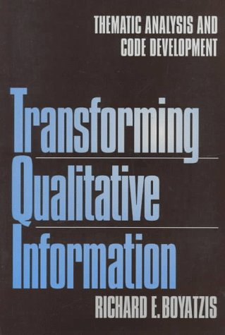 Transforming Qualitative Information: Thematic Analysis and Code Development
