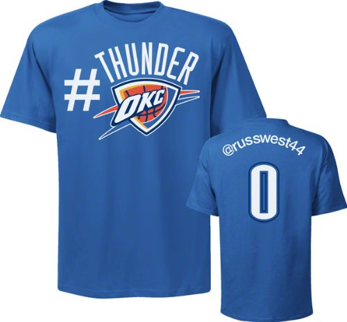 Russell Westbrook Oklahoma City Thunder NBA Twitter Name & Number T-Shirt