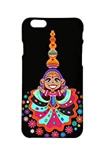 VDESI Designer Matte Finish Plastic Back Cover For iPhone 6 Plus- Ghoomar (Blk)