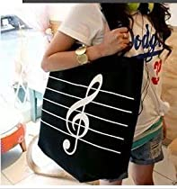 Music Note Canvas Bag