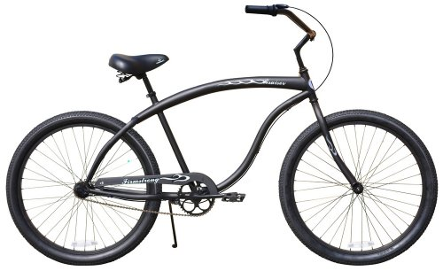 "Guy's Cruiser Bike 26"" Bruiser Man multi-speed (3sp) Firmstrong - matte black"