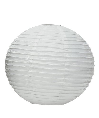 Baby Keepsake: Round Paper Lanterns - Small - White