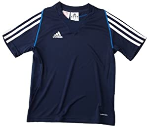 adidas T12 Clima Cool T-Shirt manches courtes enfant Collegiate Navy FR : 10 ans (Taille Fabricant : 140)