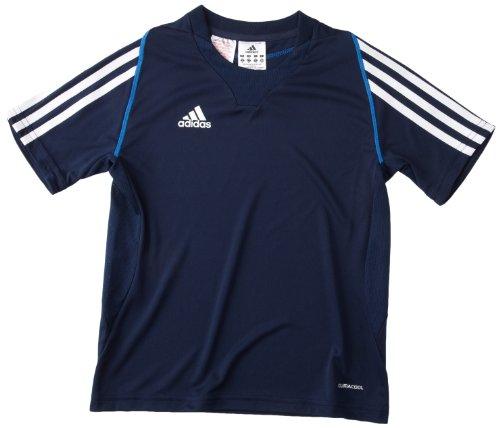 adidas, Maglietta Bambino T12 Team Climacool X34265, Blu (Navyblau/Weiß), 152 cm