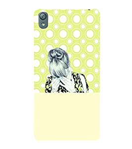 PrintVisa Stylish Cool Girl Sad 3D Hard Polycarbonate Designer Back Case Cover for Sony Xperia E5