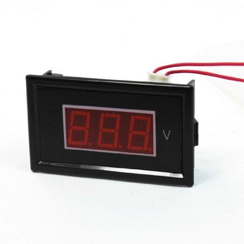 Ac 60-500V 2-Wire Mini Red Led 3-Digit Volt Voltage Panel Meter Voltmeter