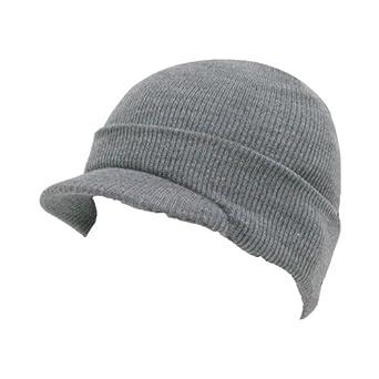HEATHER GRAY VISOR BEANIE JEEP CAP CAPS HAT HATS