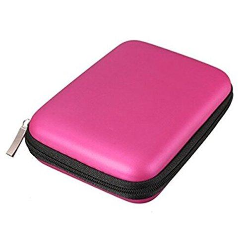 SODIAL(R) Etui Sac Housse Case Antichoc Zippe pour disque durs externes 2,5 pouces - Rose