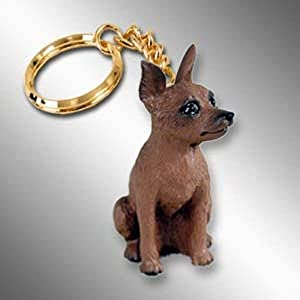 Miniature Pinscher, Red/Brown Tiny Ones Dog Keychains (2 1/2 in)
