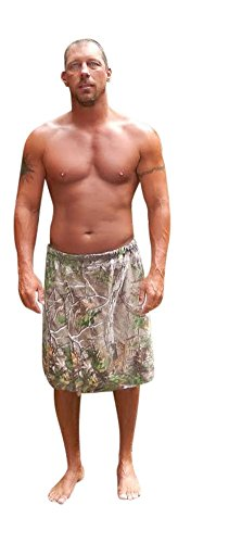"Realtree Spa Wrap, Mens Xtra Camo Gym Shower Towel Bath Wrap W30-40"" Bullets Change To: front-88630"