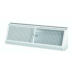 Ameriflow 3015w15 r steel baseboard diffuser 15 white for Wood floor registers 6 x 14