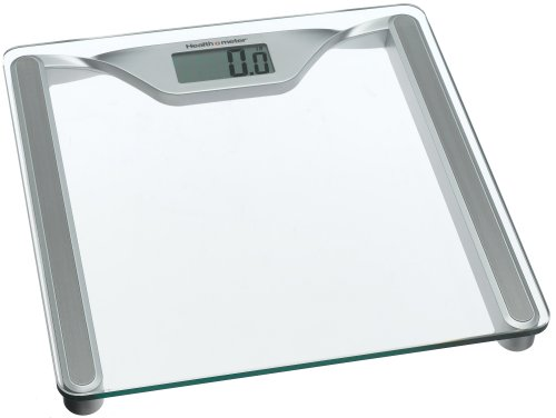 Cheap Health o Meter HDL645KD-63 Glass Digital Scale, Clear Glass with Silver Metallic Frame (HDL645KD-63)