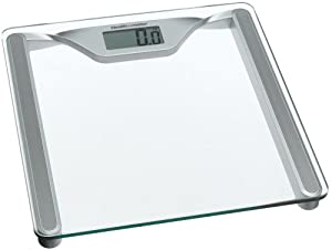 Health o Meter HDL645KD-63 Glass Digital Scale, Clear Glass with Silver Metallic Frame