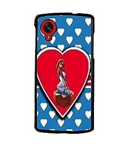 PrintDhaba Love Girl D-1120 Back Case Cover for LG GOOGLE NEXUS 5 (Multi-Coloured)