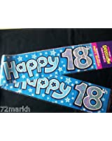 Expression Factory Happy 18Th Birthday Blue Party Banner - 2.6M