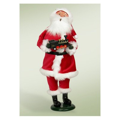 Santa with Train FigurineB0006GZ5D0
