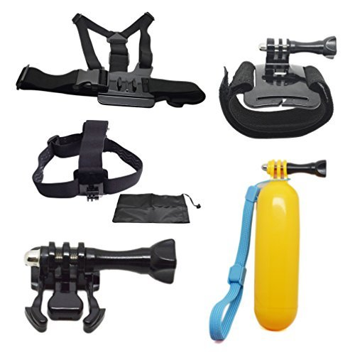 Accessories Set for Gopro Hero 4/3+/3/2/1(Buckle Basic Mount+Screw+Chest Strap+Adjustable Head Strap+Bag+Chest Body Strap)