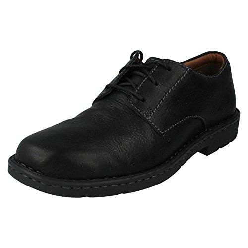 clarks-stratton-way-da-uomo-con-lacci-flats-nero-black-48-eu