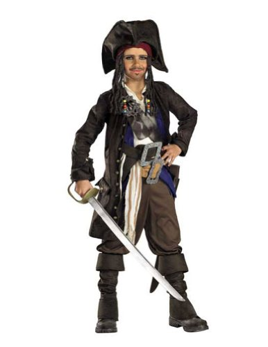 Kids-Costume Pirates Of Caribbean Capt 10-12 Halloween Costume