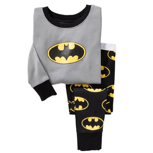 Cm-Cg Little Boys' Batman Pajama Sleepwear Tops & Trousers Outfits 2-7Y