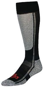 Hot Chillys Men's Lo Volume Sock (Black/Heather, Medium)