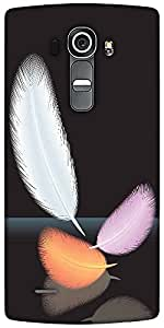 Snoogg Feathers Vector Designer Protective Back Case Cover For LG G4