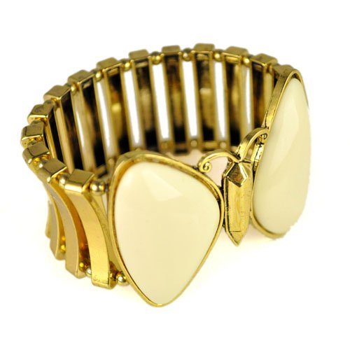 ivory color butterfly stretchable bangle, br-1351