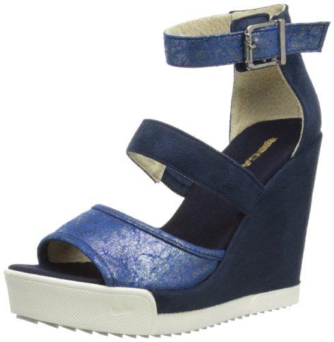 Gas Footwear Fox, Scarpe con cinturino alla caviglia donna, Blu (Blu), 41.5