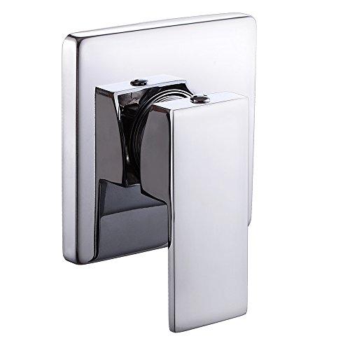 Mlfalls Shower Faucets Brass Thermostatic Mixing Valve: Single Mixing Valve Trim Bathroom Shower Modern Chrome