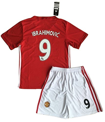 zlatan-ibrahimovic-9-manchester-united-2016-2017-home-jersey-shorts-for-kids-11-13-years-old