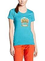 Salewa Camiseta Manga Corta Demuth Co W (Azul Royal)