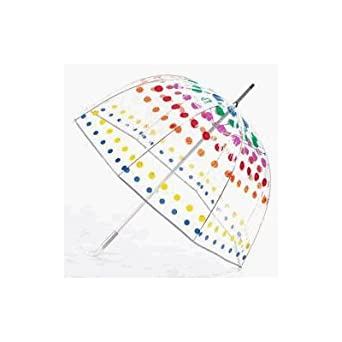 Totes Bubble Stick Umbrella, Primary Dots