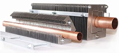 """FABTEK CLR-2 Fin Clamp Hydronic Baseboard Element Additional Fins, 2' Section For 3/4"""" Copper"""