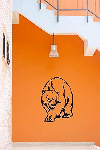 GGWW Wall Stickers Vinyl Decal Angry Polar Bear Animal Predator Tribal (I651)
